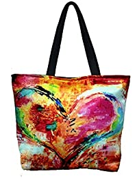 Vj's Ladies Hand Bag With Multi Color (12 Inch * 10 Inch) - B079HTSYWS
