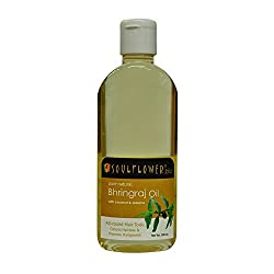 Soulflower pure natural Bhringraj with coconut & sesame Oil, 200 ml