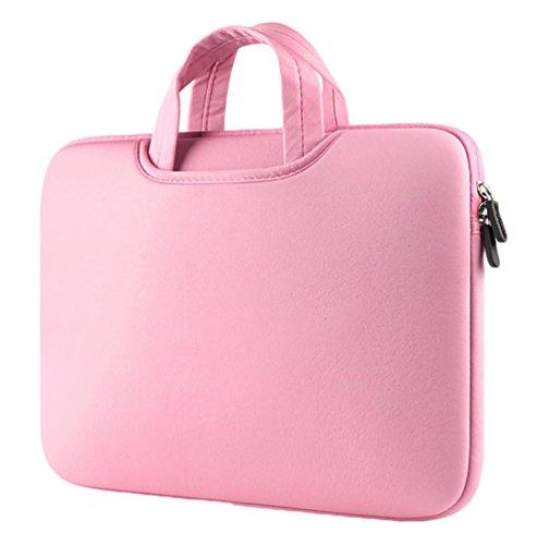YiJee Notebook Tasche Laptoptasche Wasserfest Laptop Hülle Carrying Bag 15.4 Zoll Pink