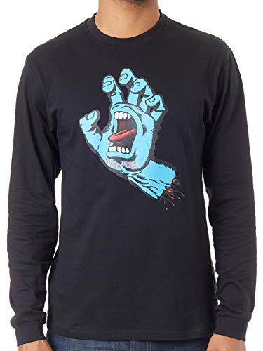 5b566e16d0e T-Shirt À Manches Longues Santa Cruz – Screaming Hand noir bleu taille
