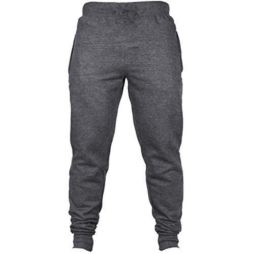 n, Mens Fashion Herbst Jogger Solid Color Casual Drawstring Jogginghose Hosen ()