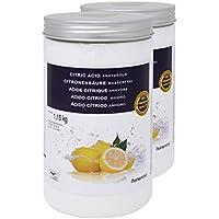 Nortembio Acido Citrico 2x1,15 kg, qualità Premium, Polvere Anidro, Pure e Naturale, Produzione Biologica. Sviluppato in Italia.