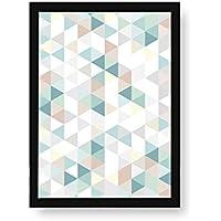 Kenay Home Lámina Rombos, Papel, Blanco y Negro, 500 x 700 mm