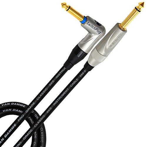 Selbstreinigung Bereich (5Meter-Van Damme Pro Grade Classic XKE Instrument-Amphenol vergoldet Silent Plug-Gitarre, Bass, Instrumentenkabel-gerade auf abgewinkelt, (Silent Plug) Amphenol Gold TS (6,35mm) Anschlüsse)