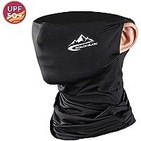 MILIER Pasamontañas Mascarilla Bufanda Facial Máscara de Ciclismo Transpirable al Aire Libre Unisex Protector Facial Cuello Polainas (Negro)