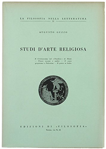 STUDI D'ARTE RELIGIOSA.