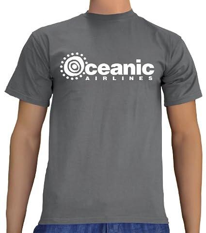 Touchlines Unisex/Herren T-Shirt Oceanic Airlines - Lost Dharma, darkgrey, L, B1751 (Fun Schule Halloween Kostüme)