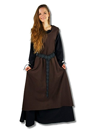 (Leonardo Carbone Mittelalter Marktkleid - Damen Überkleid Minaela XXXL/dkl braun)