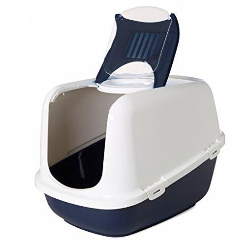 Toilette accessoriata Savic Nestor Jumbo - Lettiera extra large per gatti di grandi dimensioni, in plastica, completa di accessori (Blu)