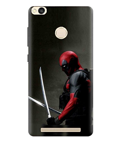 Sibu Print American Superhero Marvel Comics Character Deadpool 2 Designer Printed Polycarbonate Matte Finish Hard Back Case Cover for Xiaomi Redmi 3S Prime