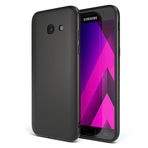 EAZY CASE Handyhülle Silikon mit Kameraschutz Samsung Galaxy A5 (2017) in schwarz matt, Ultra dünn, Slimcover, Silikonhülle, Hülle, Softcase, Backcover (Samsung Galaxy A5 Slim Case)