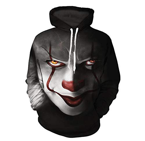 Huateng Lässige Mode Kürbis Skelett Digitaldruck Lose Pullover Halloween Stil Paar Hoodies