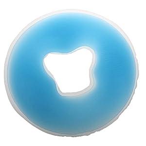 SODIAL Weich Salon Spa Massage Silikon Gesicht Relax Wiege Kissen Kropf Kissen Pad Beauty Care–blau, M