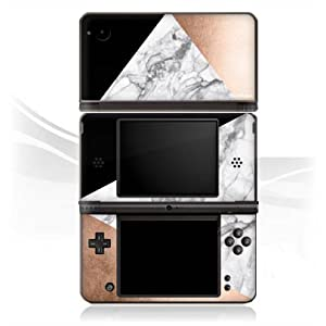 DeinDesign Skin kompatibel mit Nintendo DSi XL Folie Sticker Rose Marmor Muster