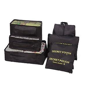 Balala Emballage Cubes Organisateur de bagage de Sac voyage / sacoches de rangement pour bagage/ Cubes De Voyage / 6pcs