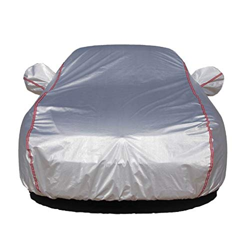 LIUYUNQ Kompatibel Mit Hozon Eureka 02 Car Cover Waterproof Oxford-Tuch Im Freien Limousine Car Cover Staub Sonne UV-Allwetter Scratch Proof Durable Car Cover Autoabdeckung (Color : Silver) -