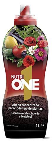 Nutrione Abono líquido Concentrado Plantas y Flores. Fertilizante Premium, Ingredientes Naturales, 1...