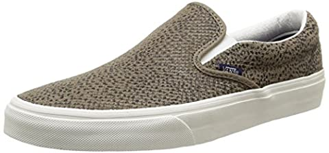 Vans U Classic Slip-On Cheetah Suede, Sneakers Basses mixte adulte, Multicolore (Cheetah Suede/Black/Tan), 36.5 EU