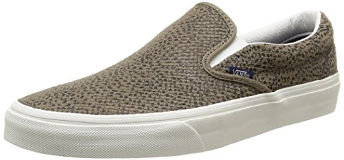 Black Cheetah (Vans U Classic Slip-On Cheetah Suede, Unisex-Erwachsene Sneakers, Mehrfarbig (Cheetah Suede/Black/Tan), 37 EU)