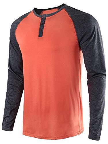 4870a146 HASIZHE Men's Casual Slim Fit Long Sleeve T-Shirt Basic Henley Baseball  Raglan Shirts Casual