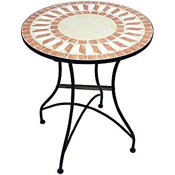 Tables Table Mosaique Ronde Style Salon Marocain Top Deco ...