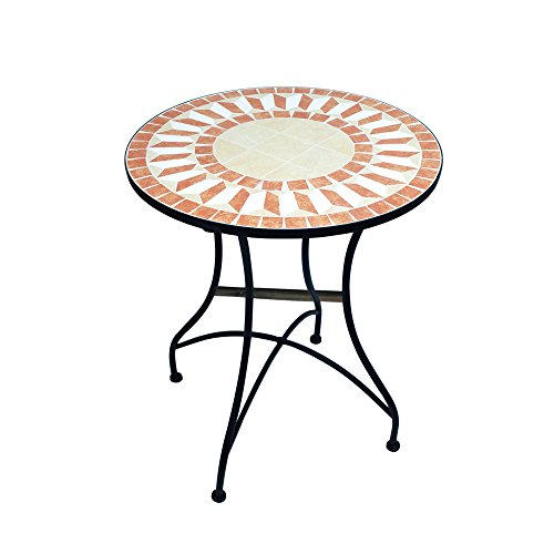 Art Deco - Table Ronde Retro Mosaique 71 cm - 11861SG