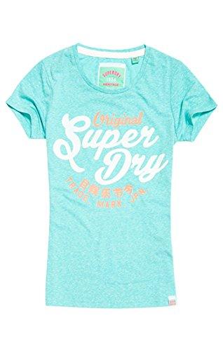 Superdry Damen T-Shirt New Original Entry Tee Turchese (Spearmint Snowy)