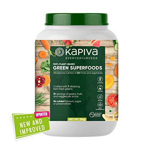 Kapiva Ayurveda Green Superfoods Nutrition Powder for Building Strength and Immunity (1kg)