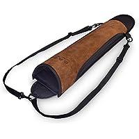 est-Hunter flecha soporte??? fabricado en nailon con Real funda de piel sintética, marrón
