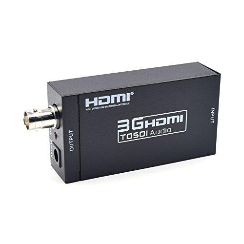 Winnes HDMI zu SDI Konverter Host, Mini HDMI SDI Adapter, HDMI zu BNC Konverter Unterstützung 1080P Display