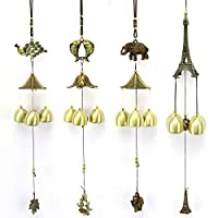 Payonr Home Decor Copper Alloy Wind Chime,Lucky Fortune Garden Copper Alloy Wind Chime Ornaments Outdoor Living Yard Garden Wall Hanging Decoration Ornaments - 1 (Shape : Elephant)