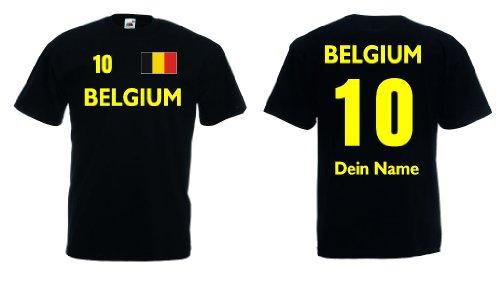 Belgium T-Shirt mit Wunschname und Wunschnummer Belgien Trikot|s-xxxl