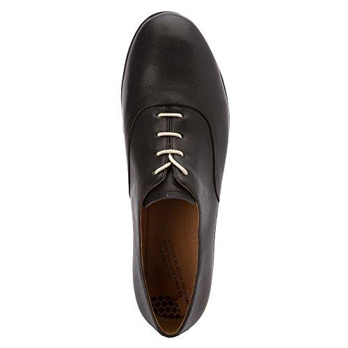 FitFlop F-Pop Patent, Chaussures à Lacets Femme Noir
