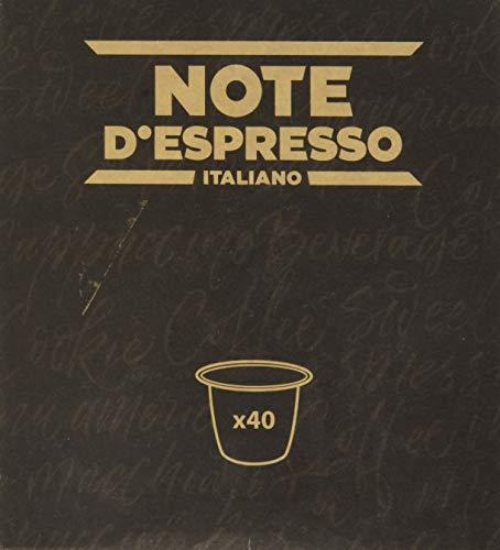 Note D'Espresso - Cápsulas de bebida instantánea de ginseng dulce, 6,5g caja de 40 unidades