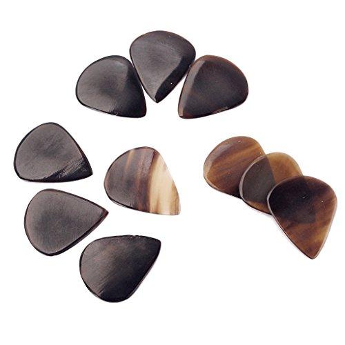 Almencla 10 Stücke Buffalo Horn Plektren Für Bass Mandoline Banjo 0,8 1,2mm