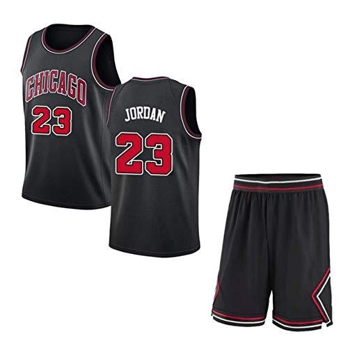 LDFN-Jerseys Michael Jordan # 23 Herren Basketball Trikot - NBA Washington Wizards, Herren Mesh Basketball Swingman Trikot Ärmelloses Sportwesten Top und Shorts (Color : Black, Size : L)