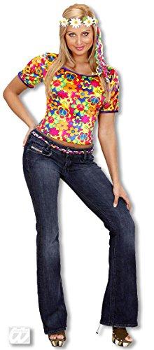 Sexy Hippie Shirt für dein Auftritt als Flowerpower Girl M (Hippie Girl Sexy Kostüme)
