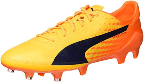 Puma Evospeed 17 Sl Fg, Chaussures de Football Homme Jaune (Ultra Yellow-peacoat-orange Clown Fish 07)
