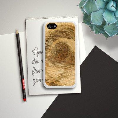 Apple iPhone 4 Housse Étui Silicone Coque Protection Tronc d'arbre Look bois Arbre Housse en silicone blanc