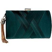 0261104437683 REFURBISHHOUSE Bolsa clutch de senora de moda de borla Bolso de hombro  Bolsa de noche de