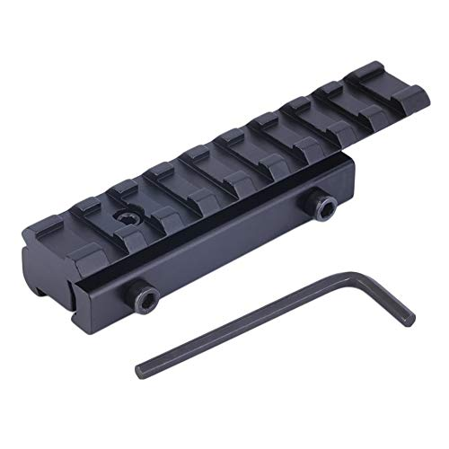 11 Base (11mm Dovetail Extension to 21mm Weaver Riser Rail Mount Base Hunting Black)