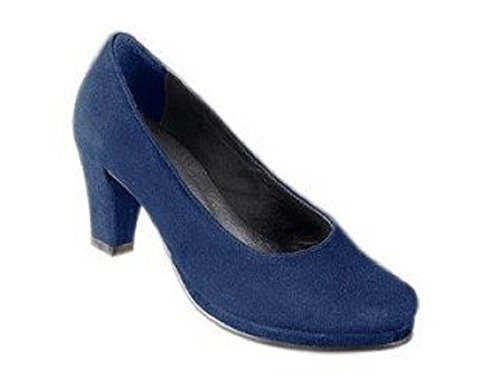 Escarpins de Andrea Conti en Velours en bleu Bleu Nuit