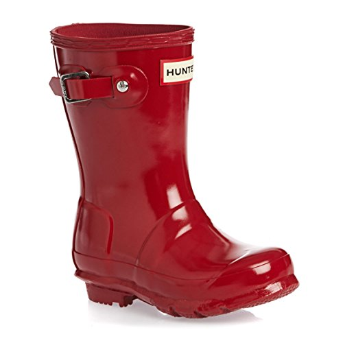 Stiefelettes Hunter Kids Original Gloss Rot Red