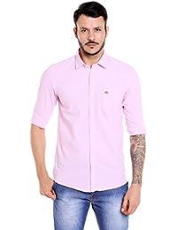Donear NXG Pink Men's Slim Fit Casual Shirt