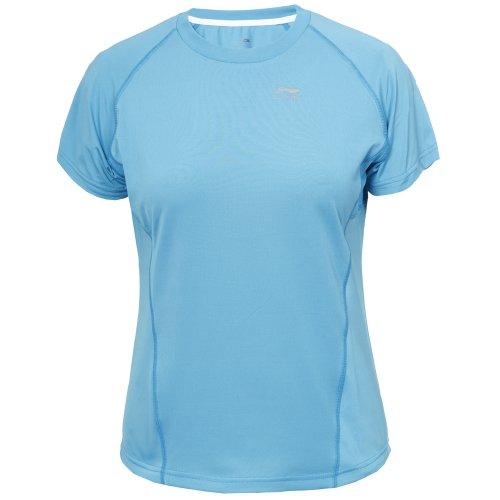 Li Ning C238 T-shirt de course pour femme Bleu - Bleu clair
