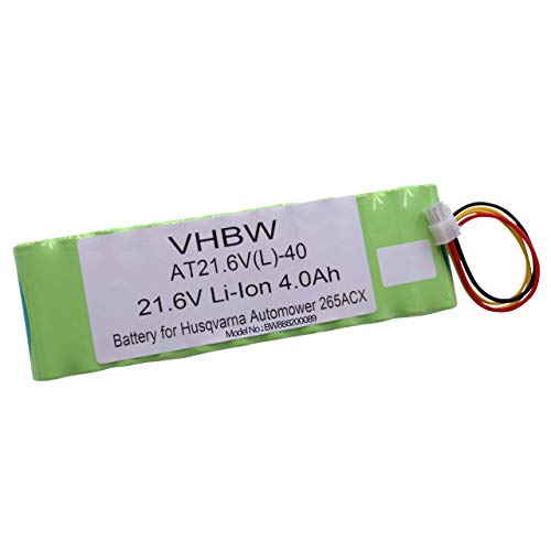 vhbw Akku für Rasenroboter Rasenmäher passend für Husqvarna Automower 265, 265 ACX (4000mAh, 21.6V, Li-Ion) -