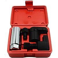 5 unids Sensor de oxígeno Socket Llave Thread Chaser Tool Kit Fit for All Auto O2 Socket Remoción Instalación Offset Interruptor de vacío