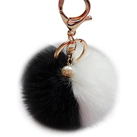 Sannysis llaveros para parejas originales, llaveros personalizados (Negro y Blanco)