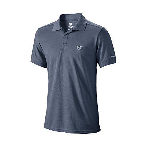 Wilson Herren Golf Poloshirt, Authentic Polo, Polyester, schwarz, Gr. L, WGA700318