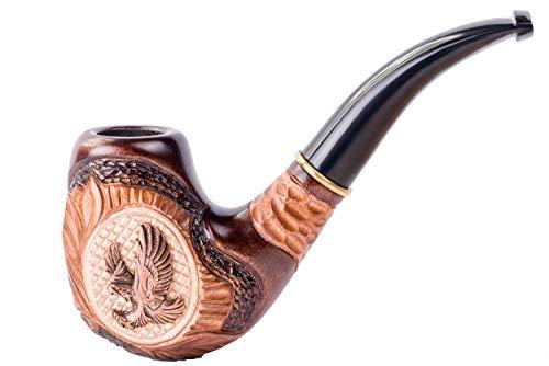 Dr.Watson - Handgemachte Raucher Pfeife / Tabakpfeife, Holz - Passt 9mm aktivkohlefilter (Adler)